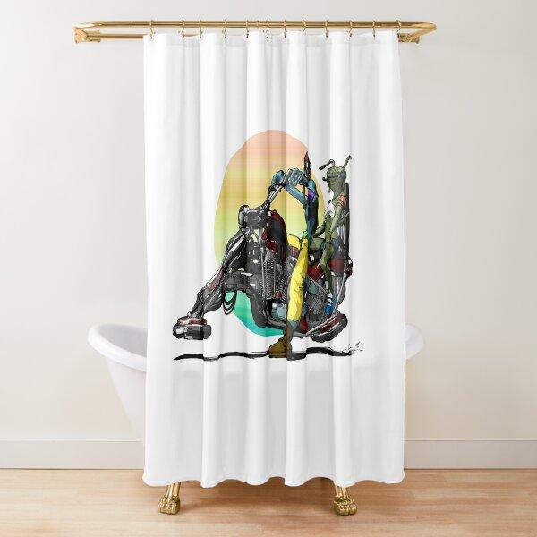 Hoverbike Duschvorhang