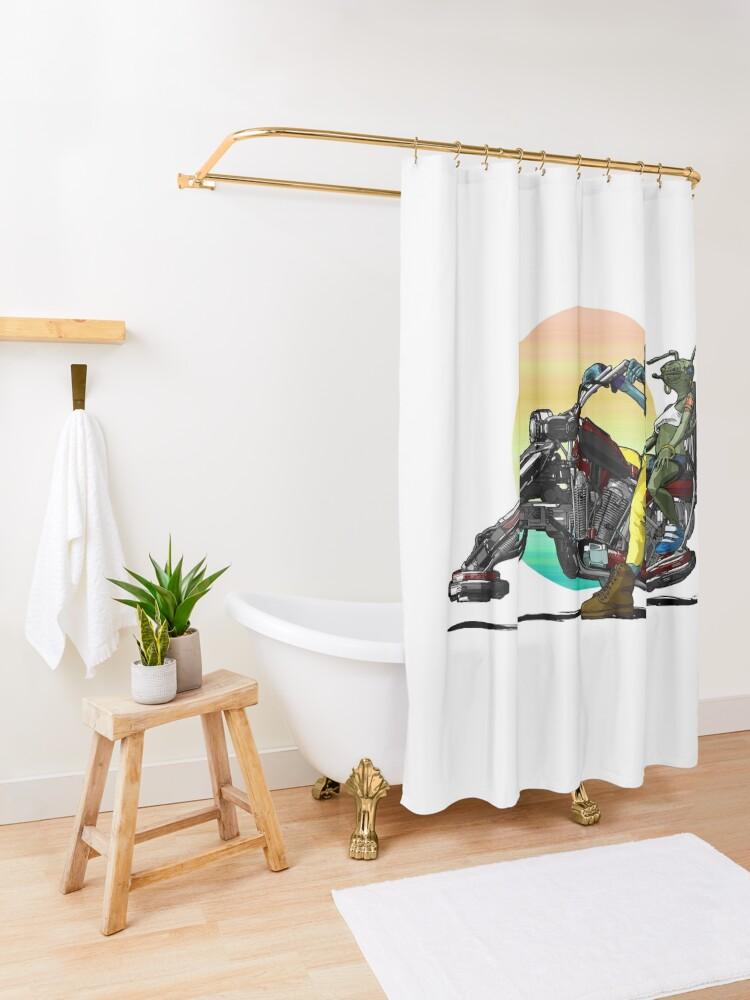 Alternative Ansicht von Hoverbike Duschvorhang