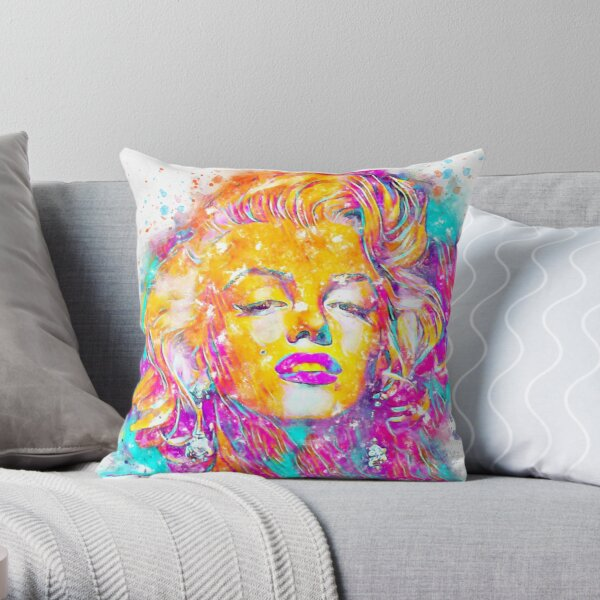 The Watercolor of Marilyn Monroe  Throw Pillow