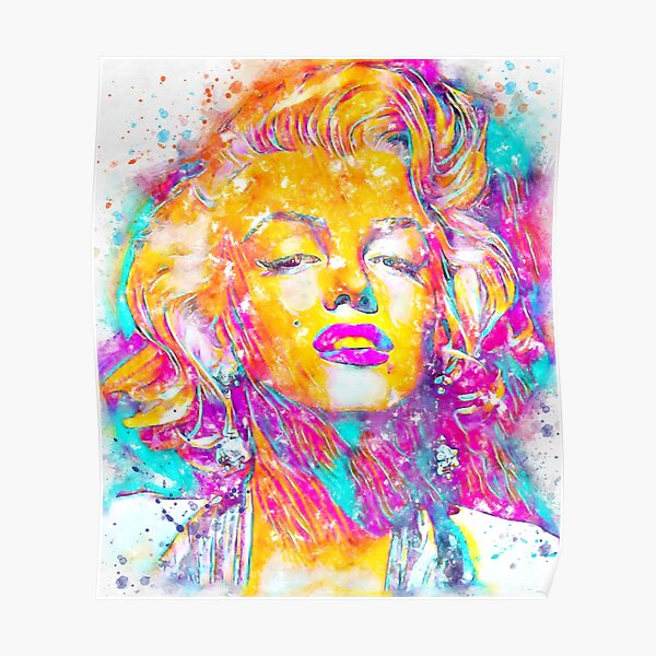 L'aquarelle de Marilyn Monroe Poster