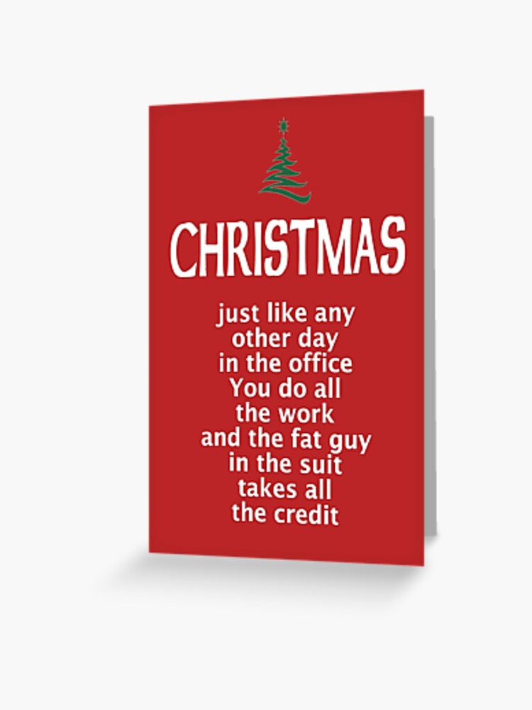 Funny Office Christmas Card Greeting Card By Poshjocks Redbubble