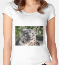 Snow Leopard Fitted Scoop T-Shirt