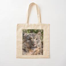 Snow Leopard Cotton Tote Bag