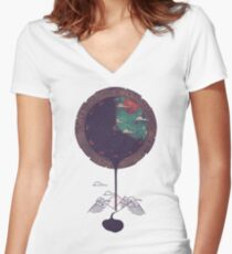 Night Falls Women's Fitted V-Neck T-Shirt