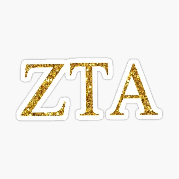 gold glitter ZTA Sticker