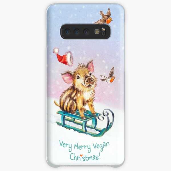 Vegan Christmas by Maria Tiqwah Samsung Galaxy Snap Case