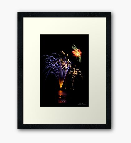 Purple Fireworks Framed Print