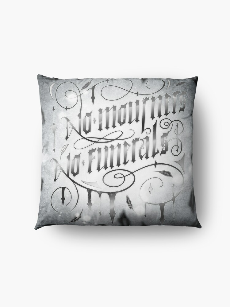 Alternate view of NO MOURNERS NO FUNERALS Floor Pillow