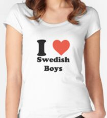 I love (heart) Swedish Boys Women's Fitted Scoop T-Shirt