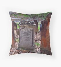 The Old St Albans Cemetery..16-1-11.. Throw Pillow