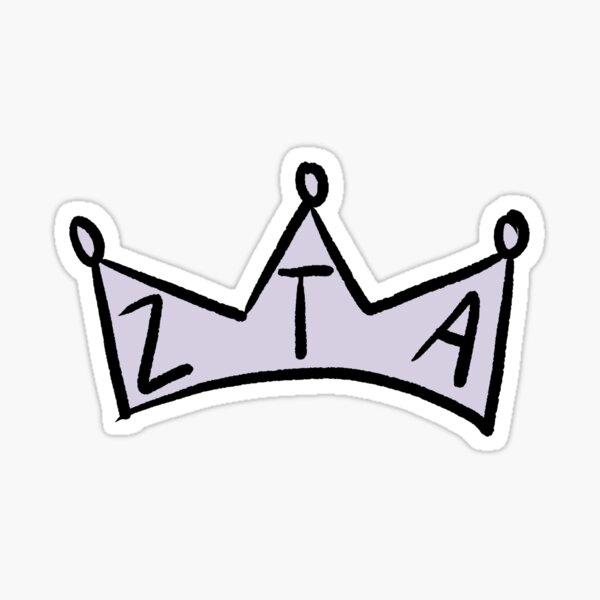 cute zta crown sticker Sticker