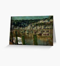Looe Harbour Greeting Card