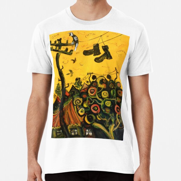 'shoes over the powerline'  Premium T-Shirt