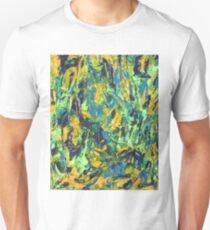 Abstract Green & Yellow Painting  Unisex T-Shirt