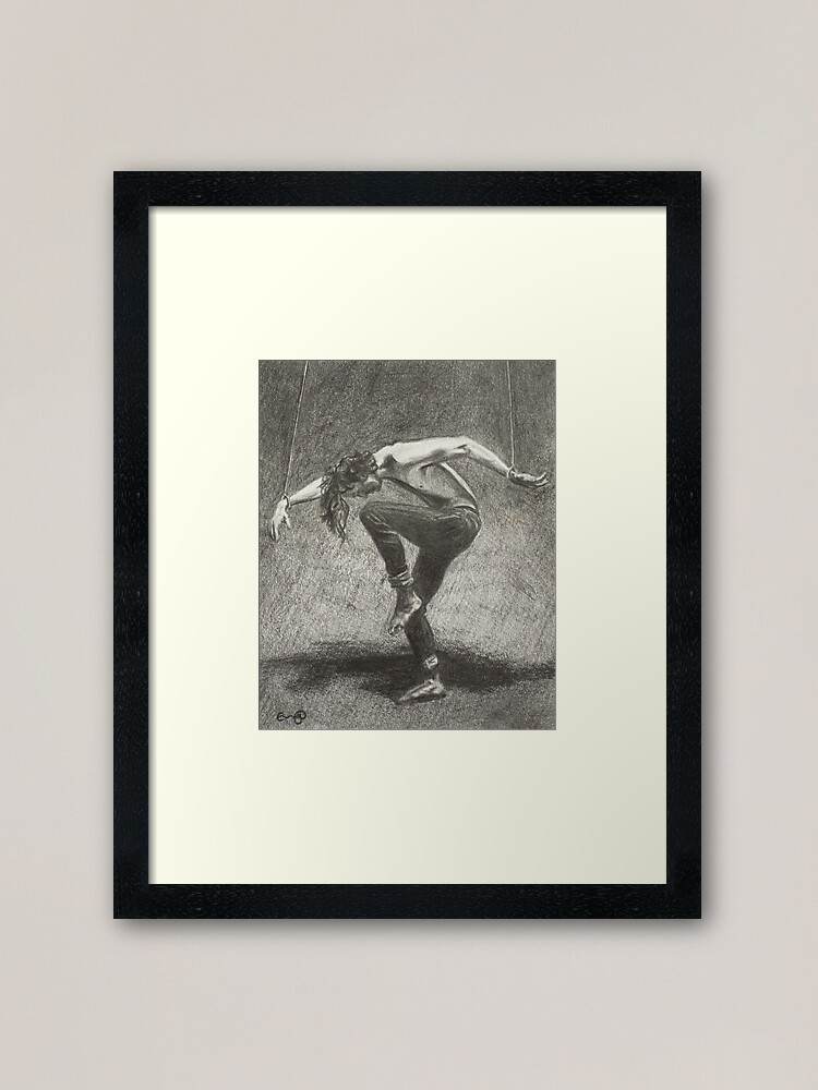 Alternate view of Man in Bondage - Fernal Files Cover Framed Art Print