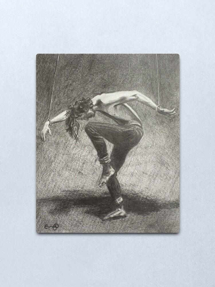 Alternate view of Man in Bondage - Fernal Files Cover Metal Print