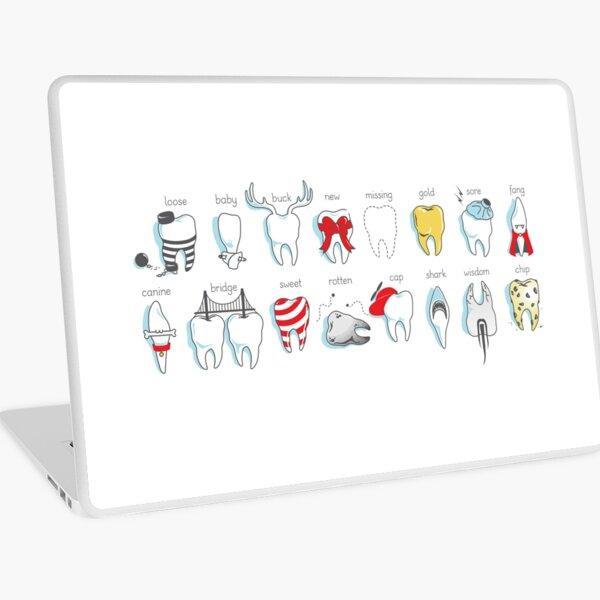 Dental Definitions Laptop Skin