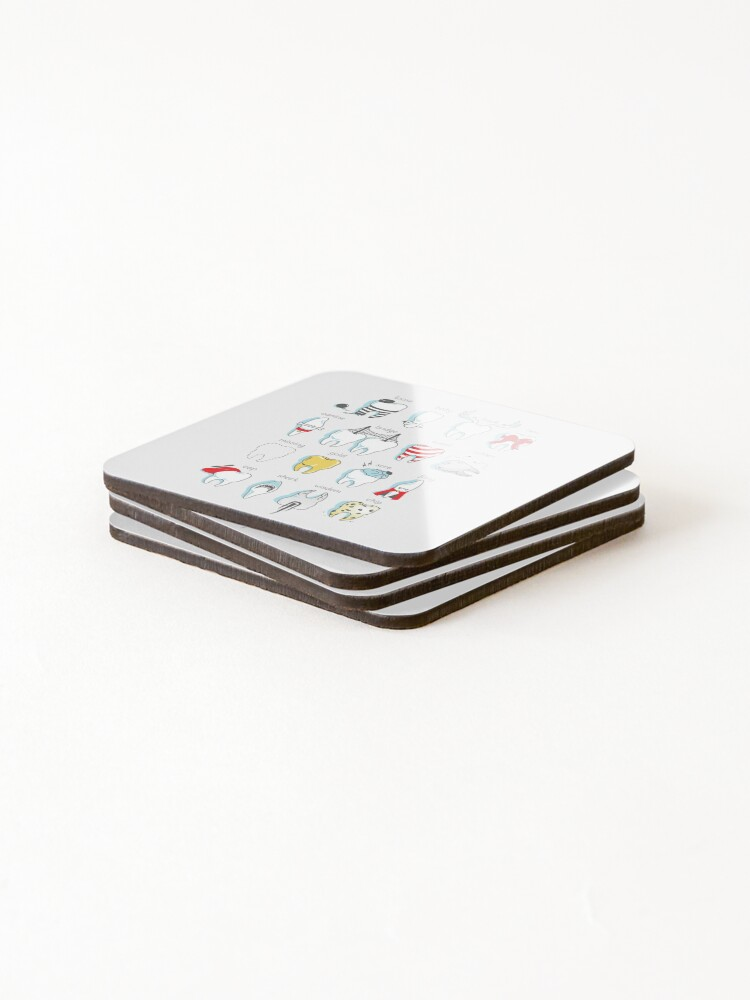 Alternate view of Dental Definitions Coasters (Set of 4)