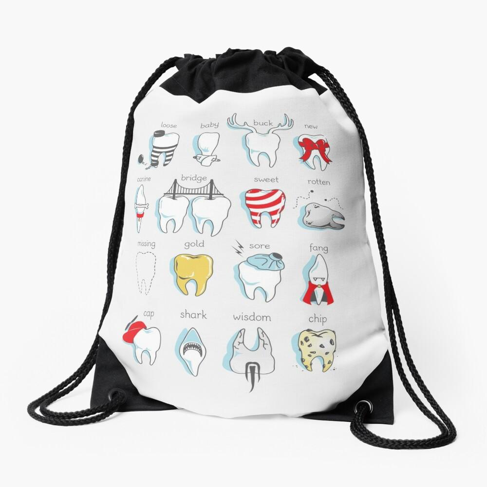 Dental Definitions Drawstring Bag
