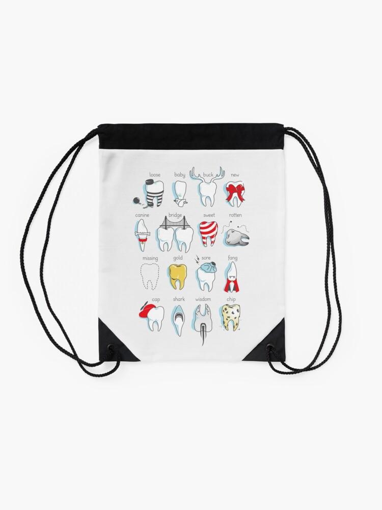 Alternate view of Dental Definitions Drawstring Bag