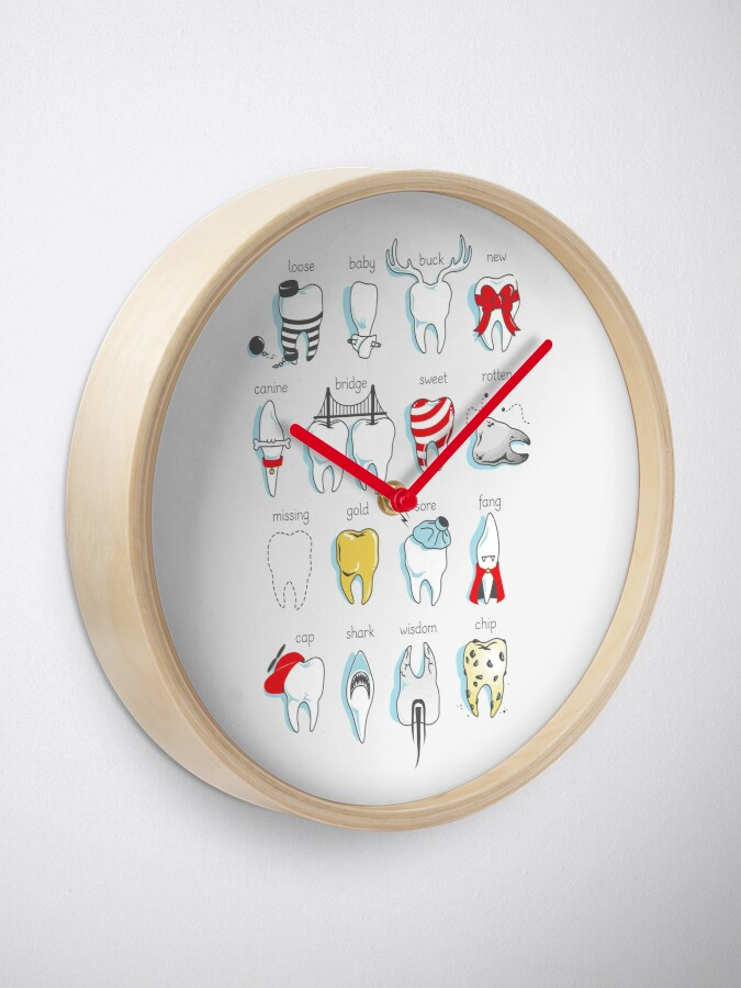 Alternate view of Dental Definitions Clock