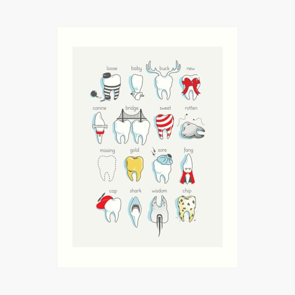 Dental Definitions Art Print