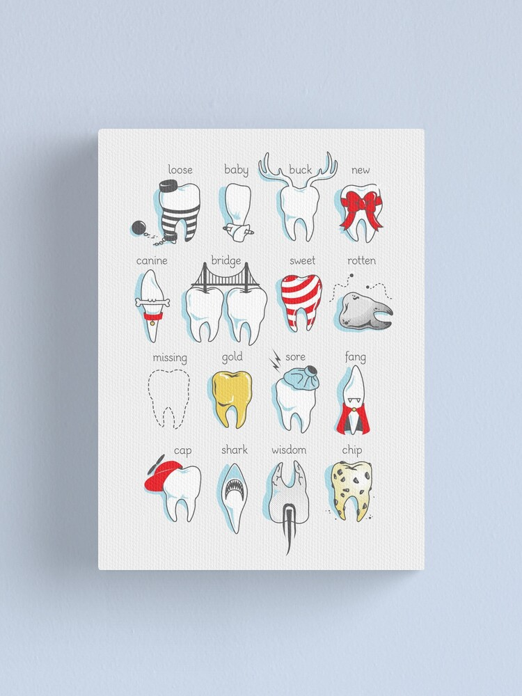 Alternate view of Dental Definitions Canvas Print