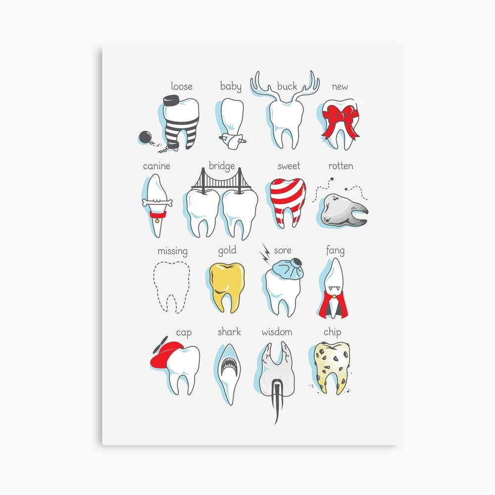 Dental Definitions Canvas Print