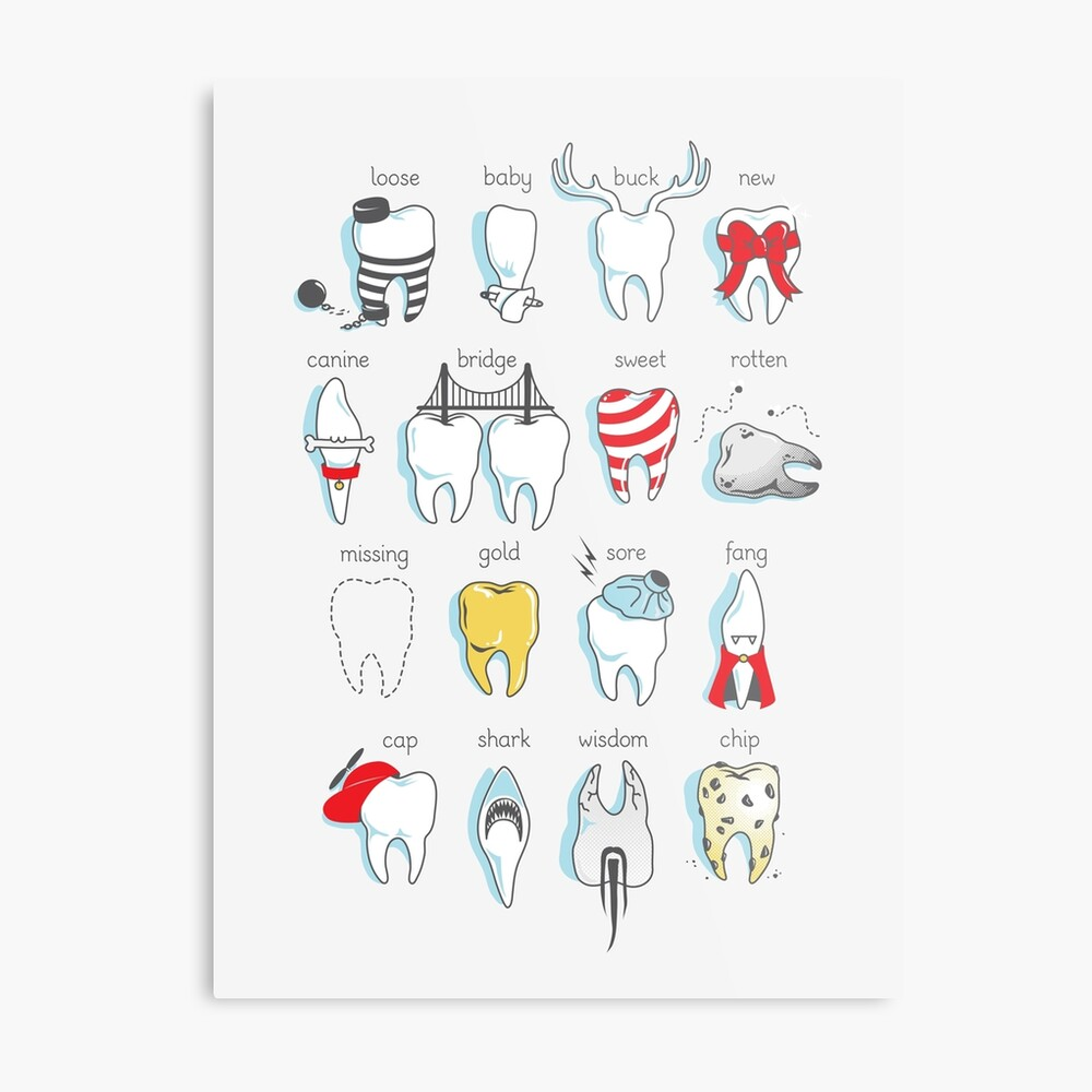 Dental Definitions Metal Print