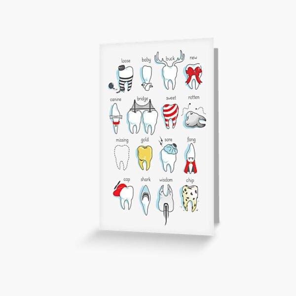 Dental Definitions Greeting Card
