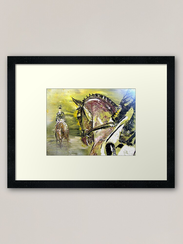Alternate view of Dressage Competition Framed Art Print