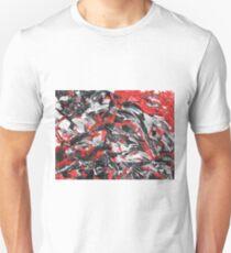 Dramatic Red, Black & White Design  Unisex T-Shirt