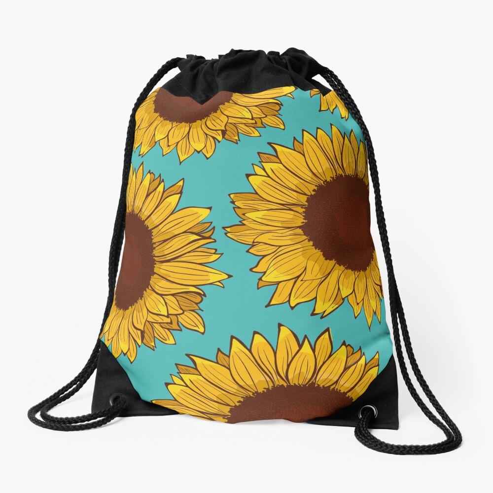 Sunflower Drawstring Bag