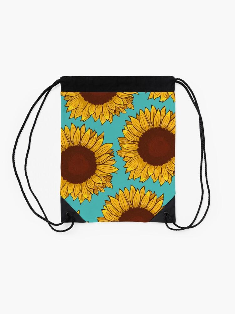 Alternate view of Sunflower Drawstring Bag