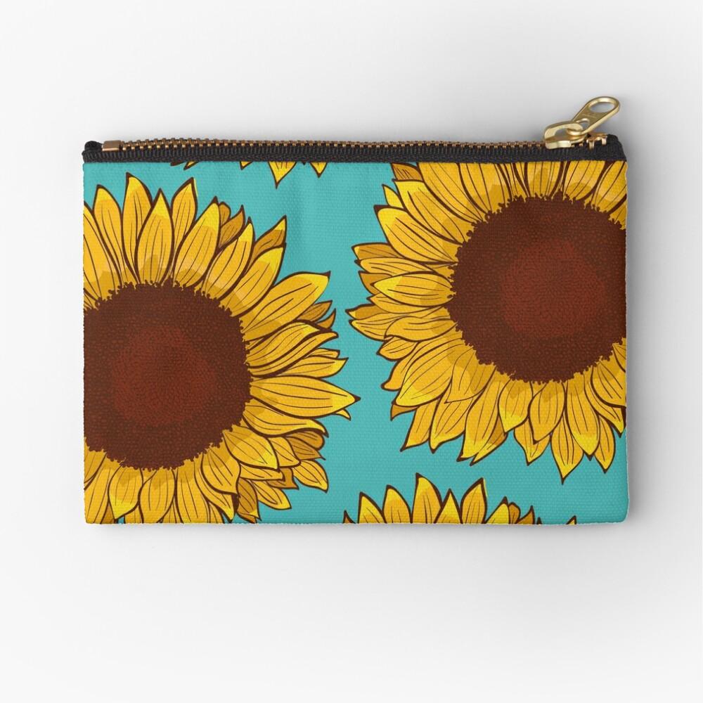 Sunflower Zipper Pouch