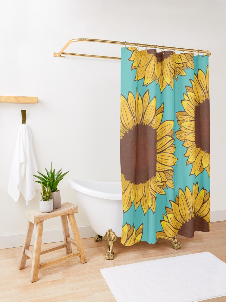 Alternate view of Sunflower Shower Curtain