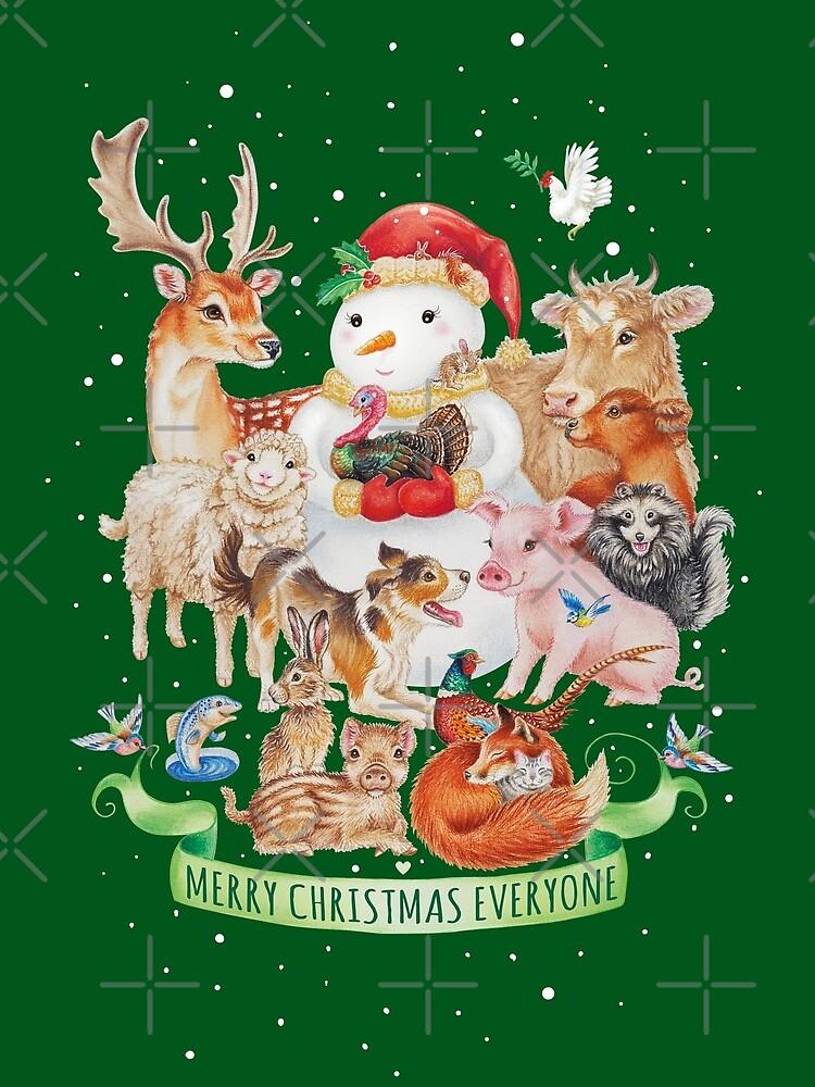 Merry vegan christmas by Maria Tiqwah by MariaTiqwah