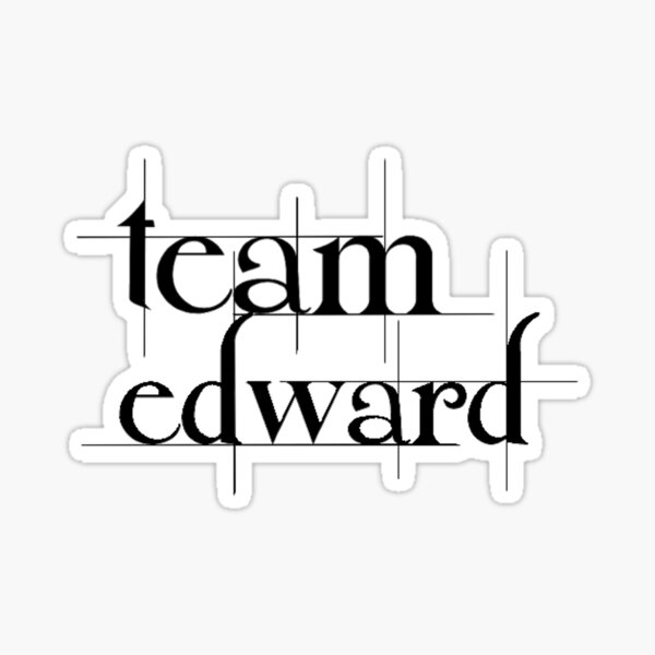 Team Edward Sticker
