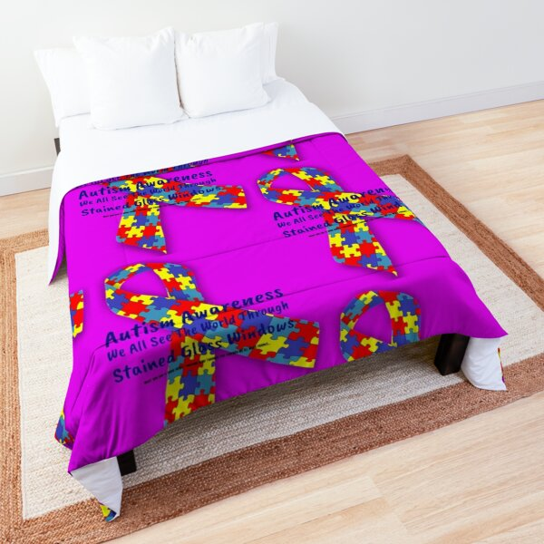 Autism Awareness T-Shirts, Accessories and Home Decor Comforter