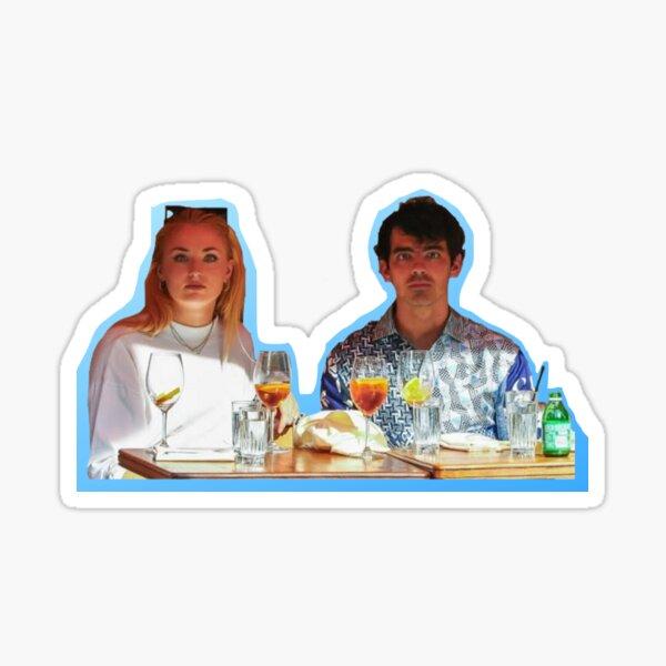 Joe Jonas/Sophie Turner Blue Paparazzi Sticker