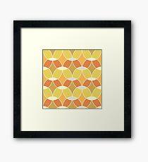Retro Orange Tile Pattern  Framed Print