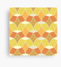 Retro Orange Tile Pattern  Canvas Print