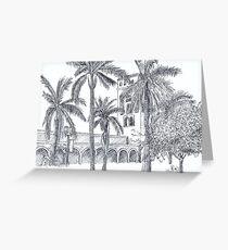 Royal Palm Plaza Greeting Card