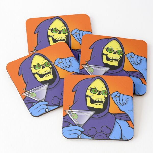 Party Skeletor Coasters (Set of 4)