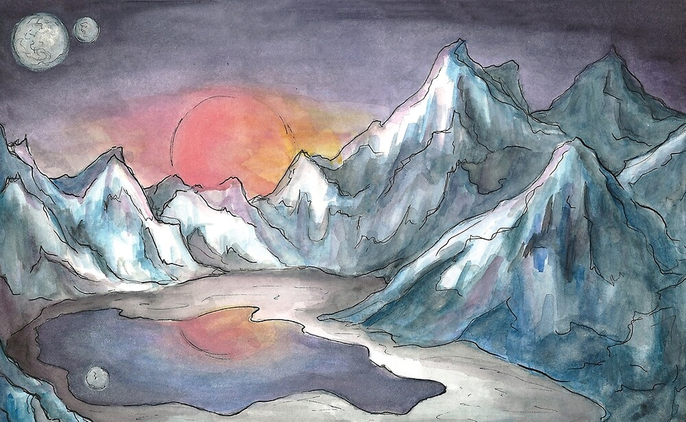 Mountains and Moons by Keicai