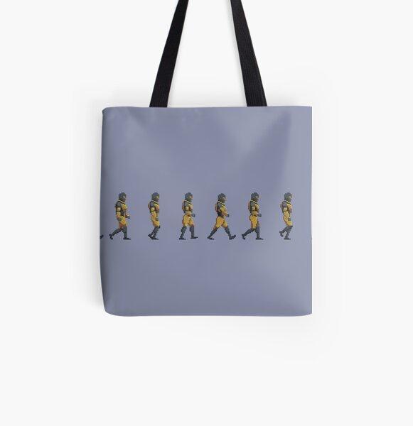 Retro 2D Pixel Art Walk Cycle: Longspur All Over Print Tote Bag