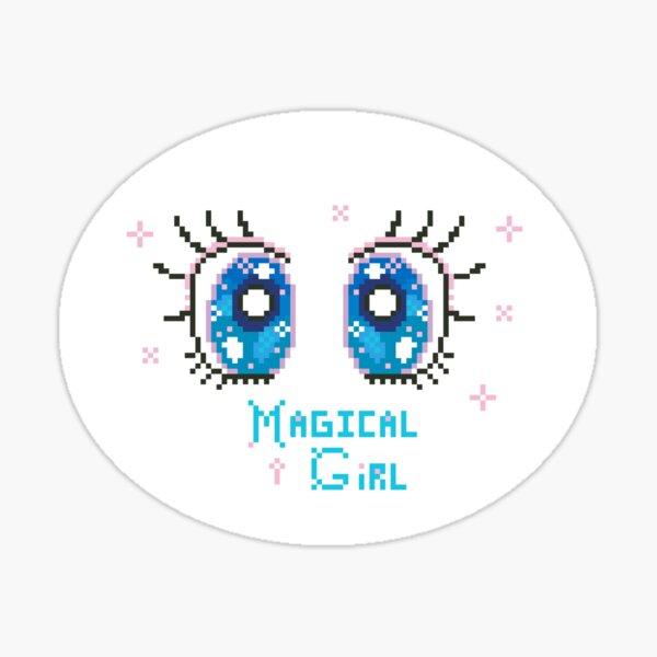 Magical Girl Pixel Eyes Sticker