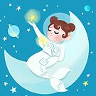 Astronaut Mermaid by lobomaravilha