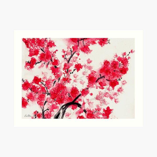 Flores de cerezo Lámina artística