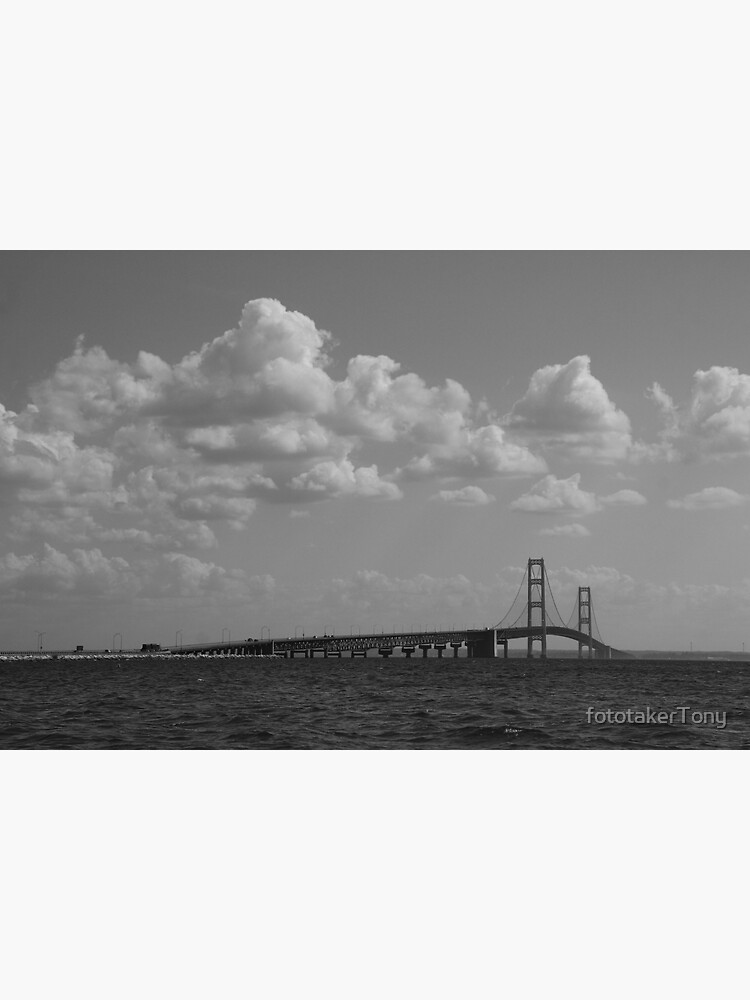 The Mackinac Bridge under the Clouds by fototakerTony